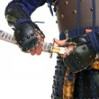 Samurai in armor — Stock Photo