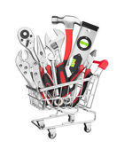 Many Tools in shopping cart — Stock Photo