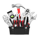 Many Tools in tool box — Stock Photo