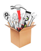 Many Tools in box — Stock Photo