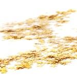 wielu złotych gwiazd, Boże Narodzenie tło — Zdjęcie stockowe