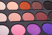 Multicolored eye shadows — Stock Photo