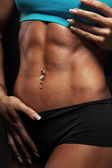 Woman abdominal muscles — Stock Photo