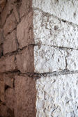 Fragment of ancient masonry walls — Stock Photo