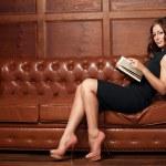 Beautiful woman reading a book — Stock Photo #51172567