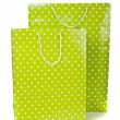 Green paper shopping bag isolated on white background — Stock Photo #13490817