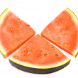 Slice of water-melon on a white background — Stock Photo
