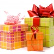 Stock Photo: Three gift box studio shot