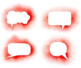 Graffiti red paint speech bubbles set — Stock Photo