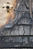 The scorched wooden background. — Stock Photo
