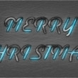 Merry Christmas Techno Style Typography — Stock Photo