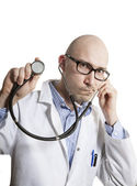 The Young Doctor With a Stethoscope — Foto de Stock