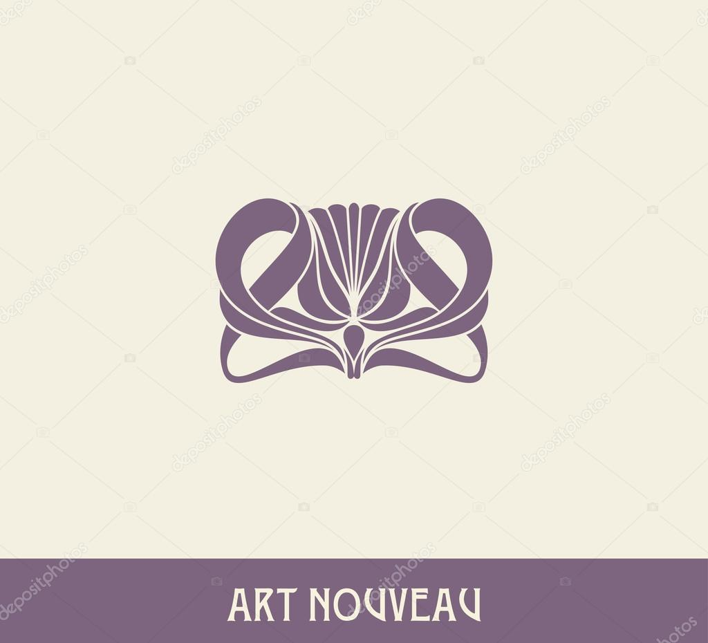 Nouveau Style Facebook Art Nouveau Style — Vector