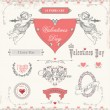Valentine's day labels, icons elements collection — Stock Vector #38581477