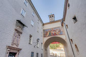 Franciscan street (Franziskanergasse) at Salzburg, Austria — Stock Photo