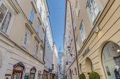 Sigmund Haffner Gasse street at Salzburg, Austria — Stock Photo