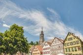 Piazza del mercato a esslingen am neckar, germania — Foto Stock