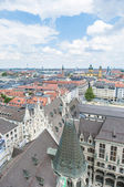 View of Munich as seen from the Neues Rathaus tower. — Foto de Stock
