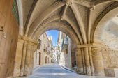 Medieval street at Calaceite, Spain — Stock Photo