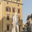 Carlo Osvaldo Goldoni statue located in Florence, Italy — Stock Photo