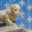 Marzocco, lion sculpted by Donatello, symbol of Flor — Stock Photo #18495991