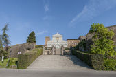 San miniato al monte βασιλική στη φλωρεντία, ιταλία. — Φωτογραφία Αρχείου