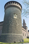 Castello sforzesco em milão, itália — Foto Stock