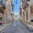 Southwest Street in Vittorios(Birgu), Malta — Stock Photo #18519119