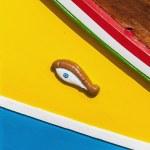 Horus or Osiris eye in Luzzu at Marsaxlokk, Malta — Stock Photo #18523733
