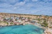 Popeye Village at Anchor Bay in Malta — Stock Photo