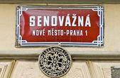 Plaque de rue de Prague, République tchèque — Photo