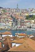 Porto skyline from Vilanova de Gaia, Portugal — Stock Photo