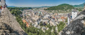 Salzburg skyline as seen from the western viewpoint of th fortre — Stock Photo