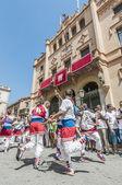 Ball de Bastons at Festa Major in Sitges, Spain — Stock Photo