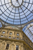 Vittorio Emanuele gallery at Milan, Italy — Stock Photo