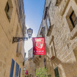 Northwest Street in Vittoriosa, Malta — Stock Photo