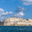 Fort Saint Angelo in Vittoriosa (Birgu), Malta, as seen from the - Stockfoto