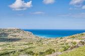 Ramla bay, på den norra sidan av gozo, malta — Stockfoto