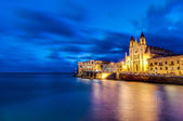 Our Lady of Mount Carmel in Balluta bay, Malta — Stock Photo