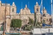 Saint Lawrence church in Vittoriosa (Birgu), Malta — Foto de Stock