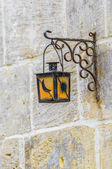 Streetlamp in Vittoriosa (Birgu) Malta — Stock Photo