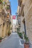 Tabone ulice ve vittoriose, malta — Stock fotografie