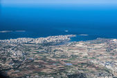 Bugibba in Malta as seen from the air — Stock Photo