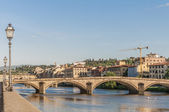 The Ponte alla Carraia bridge in Florence, Italy. — Stok fotoğraf