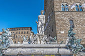 The Fountain of Neptune by Ammannati in Florence, Italy — Stock Photo