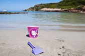 Toys at Cala d'Algairens — Stock Photo