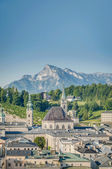 Salzburg general view from Capuchin Monastery (Kapuzinerkloster) — Stock Photo