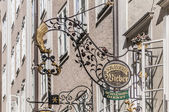 Getreidegasse shopping street in the Old-Town of Salzburg, Austr — ストック写真
