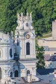 Universiteit kerk (kollegienkirche) in salzburg, Oostenrijk — Stockfoto