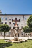 Saint Rupert statue at Salzburg, Austria — Stock Photo